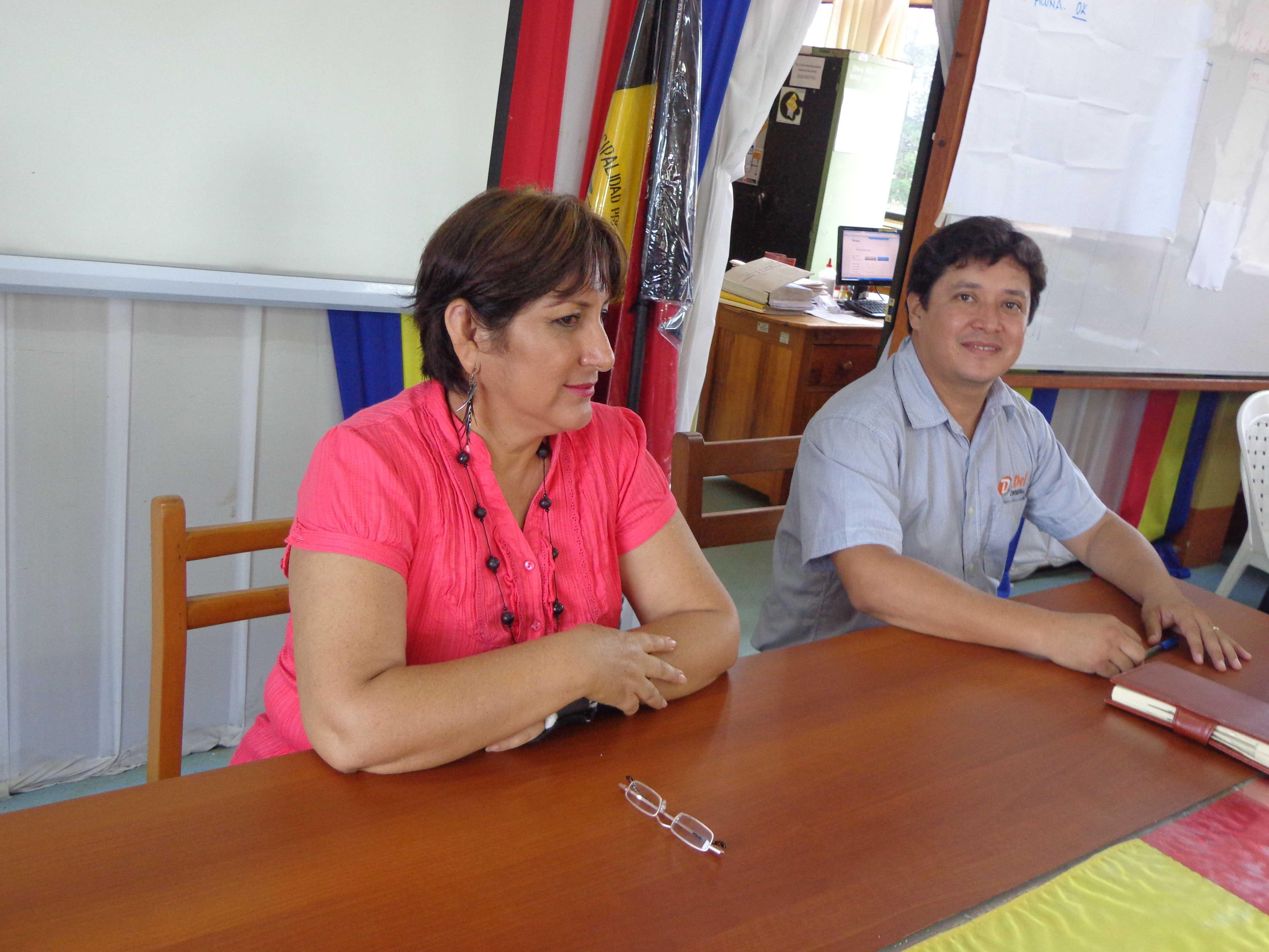 Alcalde de Lamas por el  Inicio del Año Escolar