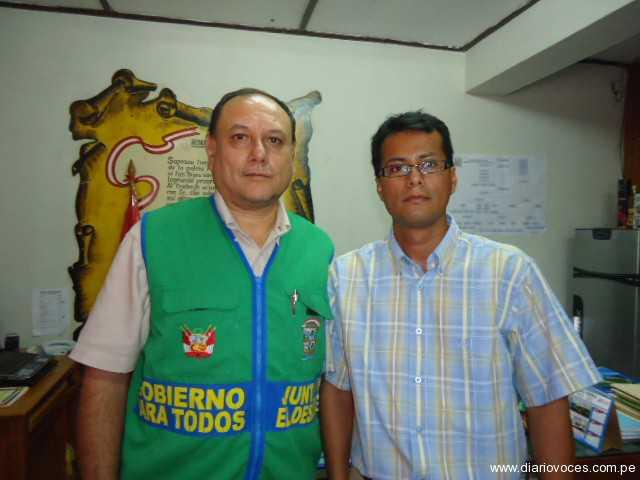 Alcalde de Saposoa presentó nuevo gerente municipal