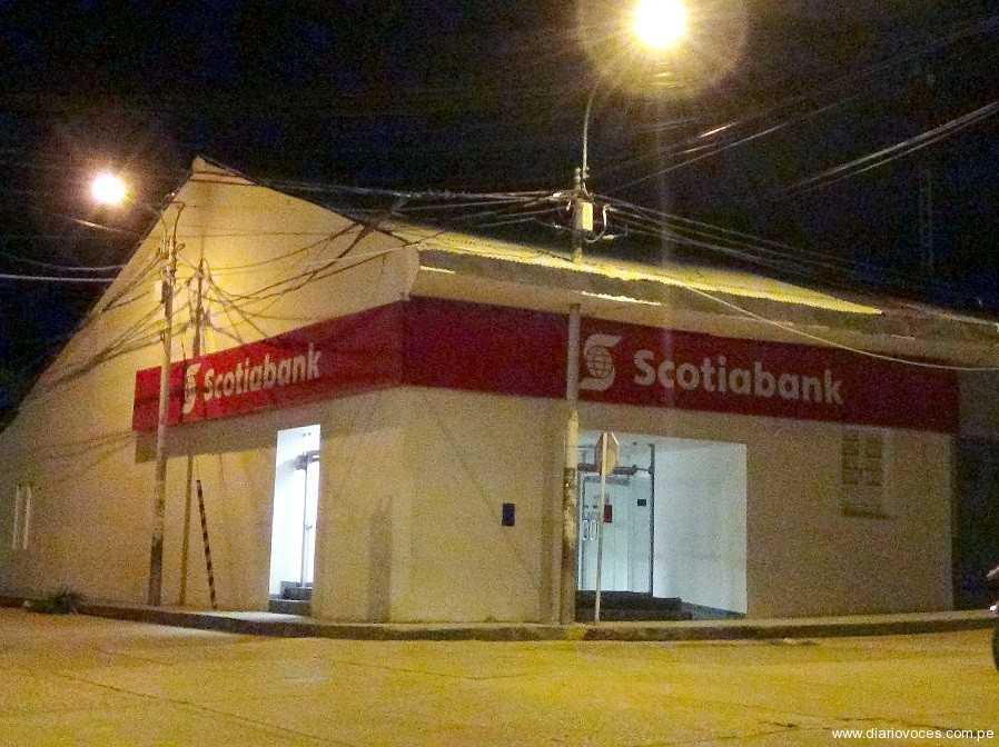 Delincuentes intentan vaciar bóveda de Scotiabank de Tarapoto