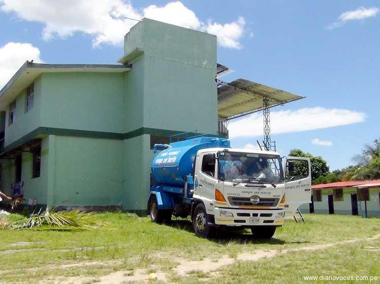 Empresa de agua  abastece  al centro de Salud de Morales