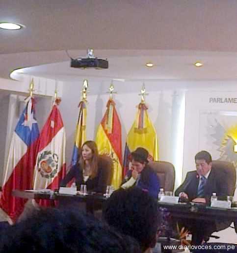 Tarapotino representa al Parlamento Andino en Bogotá Colombia