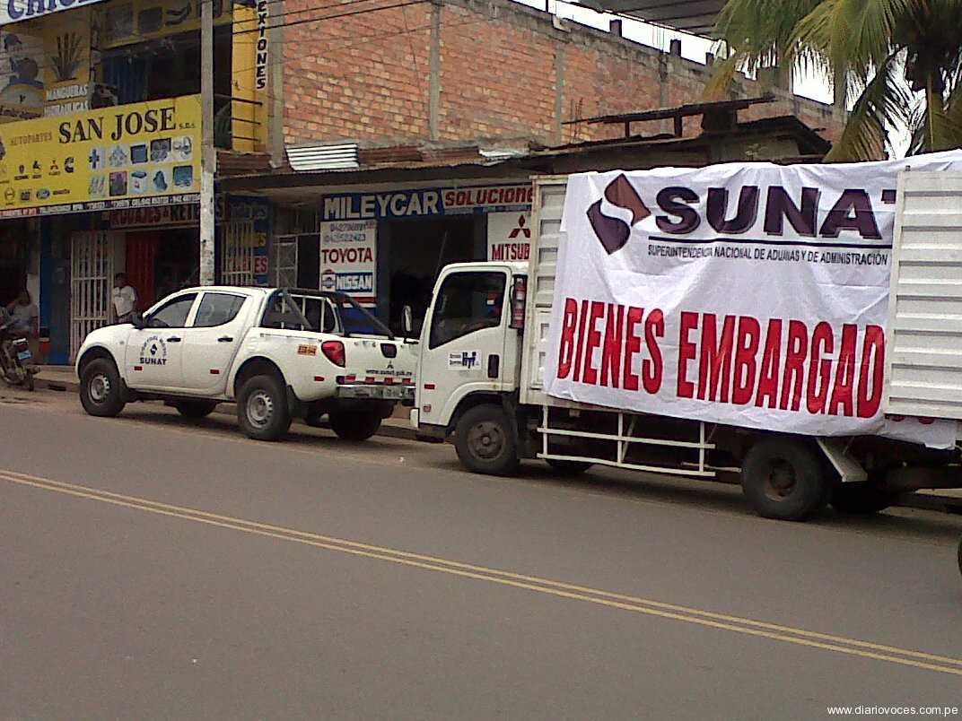 SUNAT ejecuta embargos a contribuyentes morosos