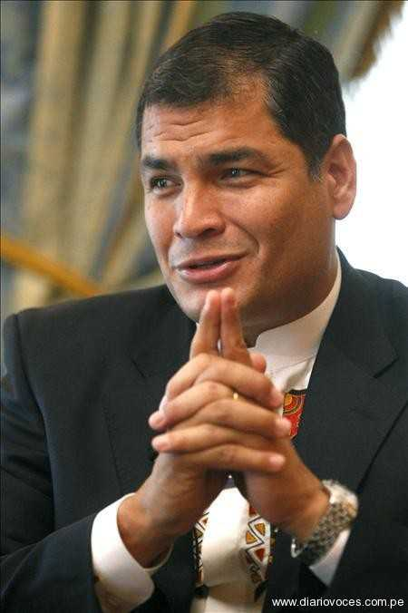 """""""No sacrificaremos la verdad"""" dijo Rafael Correa por incidente de embajador"""