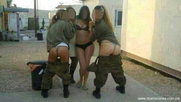 Israel: Jóvenes soldados semidesnudas generan polémica por fotos