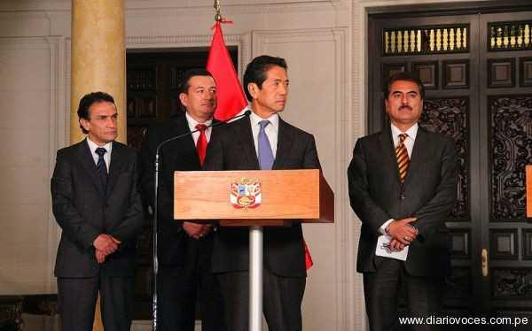 Rolando Reátegui  participo en diálogo con premier Jimenez