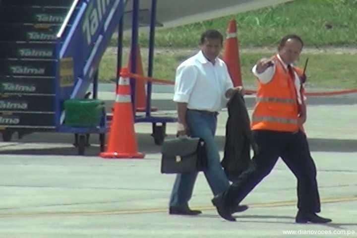 Pareja presidencial visita sorpresivamente Tarapoto
