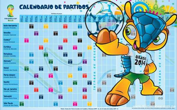 Mundial Brasil 2014: entérate aquí a qué hora se jugarán los partidos