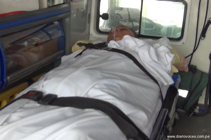 Transfieren a Lima a policía  electrocutado en Juanjui