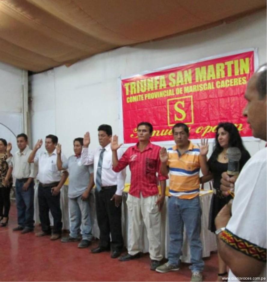Juramentan junta directiva de Triunfa San Martín