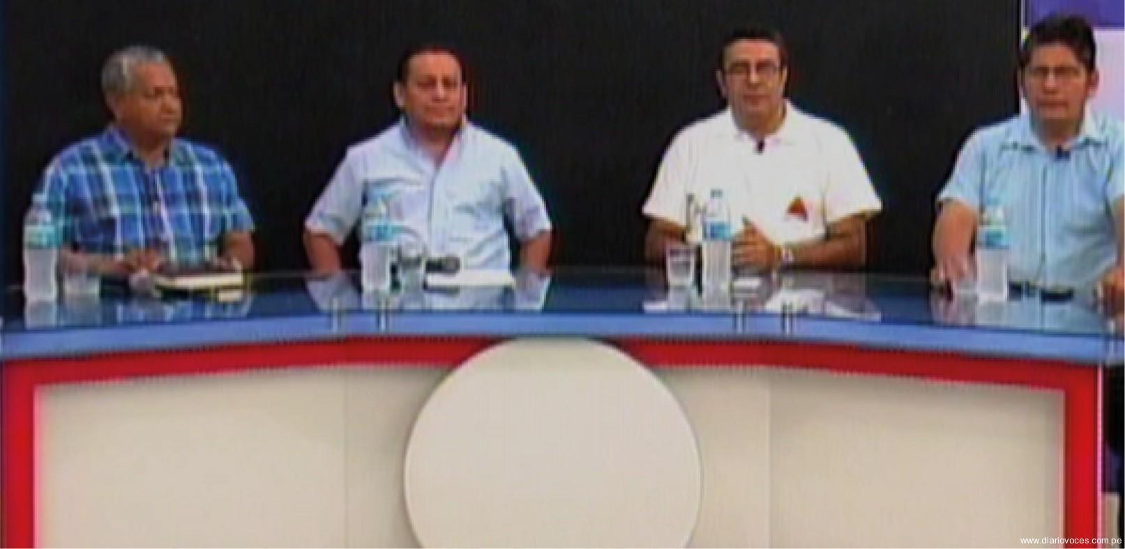 Cuatro candidatos participaron de debate televisivo en Tarapoto