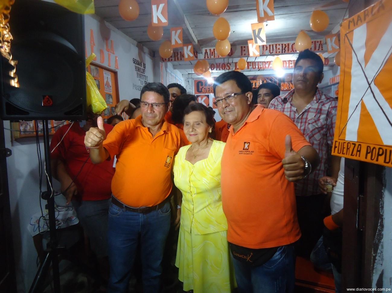 Víctor Noriega manifiesta que Keiko Fujimori visitará la Región San Martín