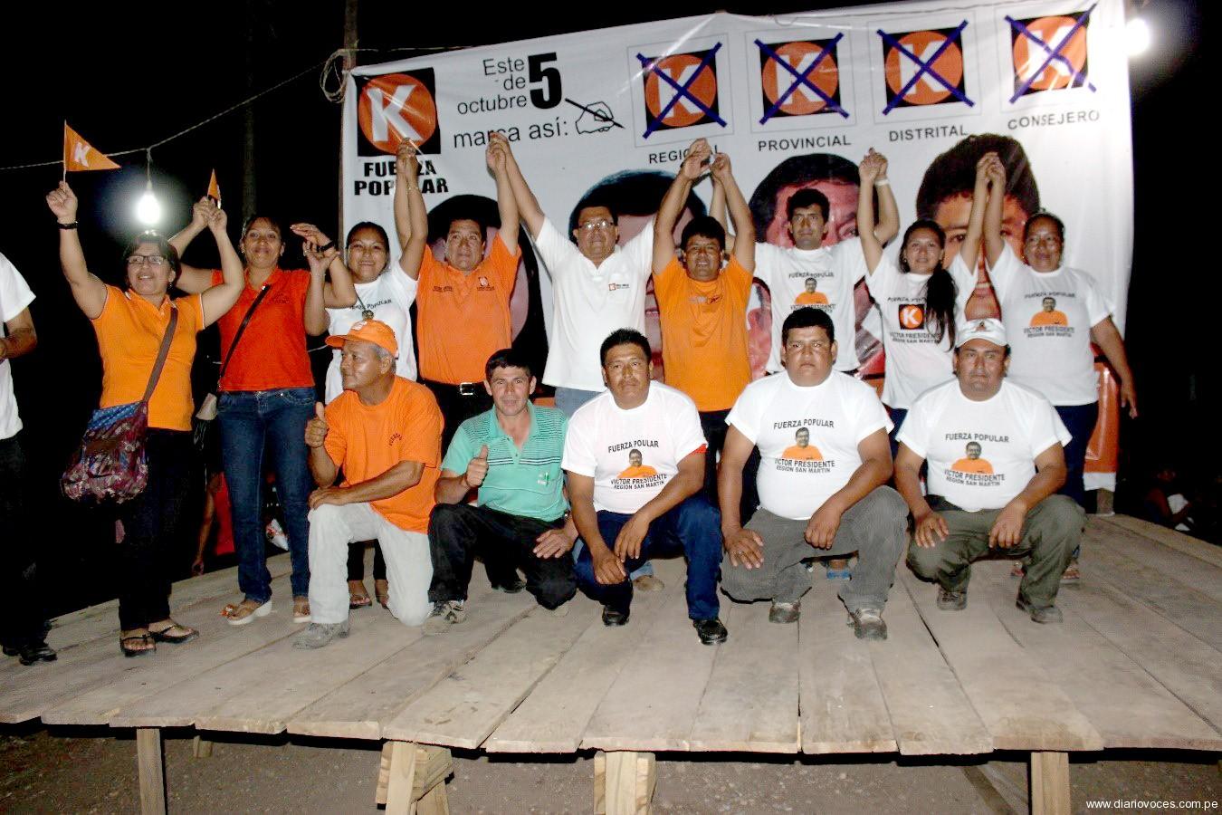 Victor Noriega, candidato fujimorista al GORESAM visita Pucacaca