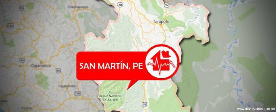 San Martín: Sismo de 4.3 grados se registró en Juanjuí, reporta el IGP