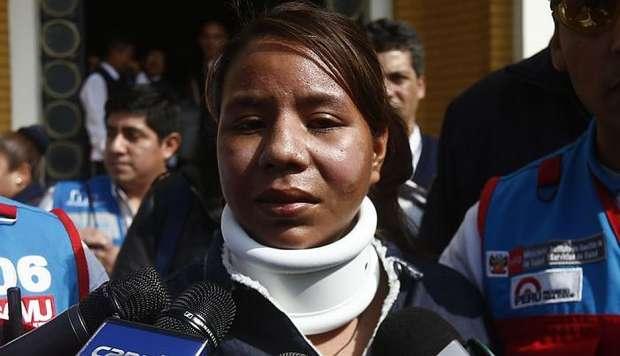 Milagros Rumiche pide captura de su agresor, tras salir de alta
