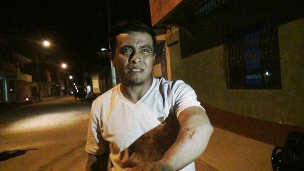 ROBERT PAIMA RIVADENEIRA. Obrero asaltado