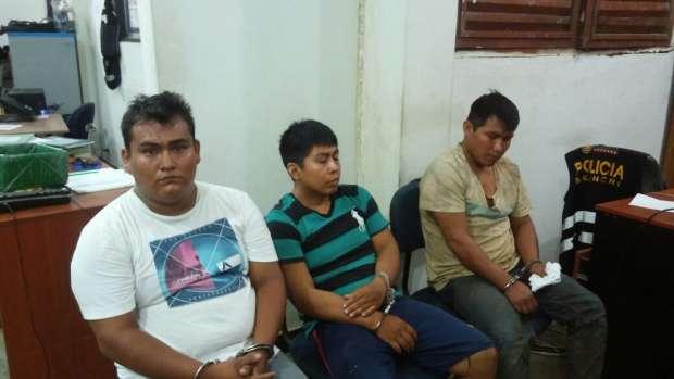 Sujetos capturados en Tarapoto