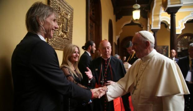 Ricardo Gareca habló de fútbol con el Papa Francisco