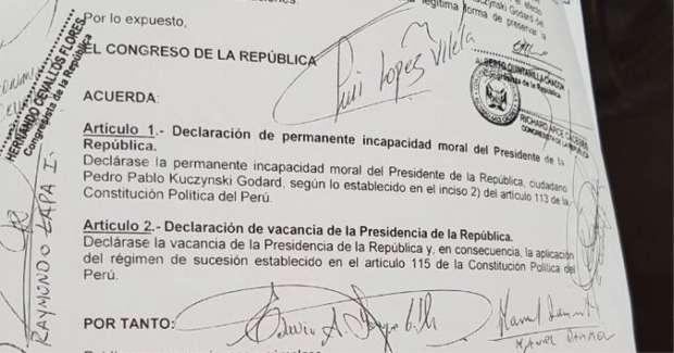 Cuenta regresiva para Pedro Pablo Kuczynski — Vacancia presidencial