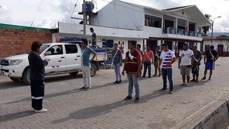 Autoridades y población de Huicungo preparados para el simulacro de sismo