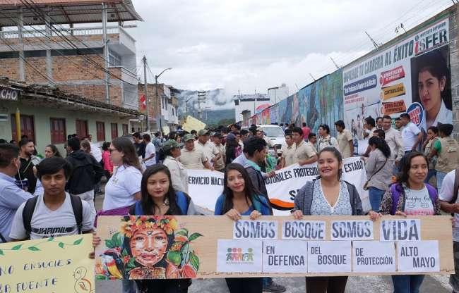 Movilización por la defensa y conservación del Bosque de Protección Alto Mayo
