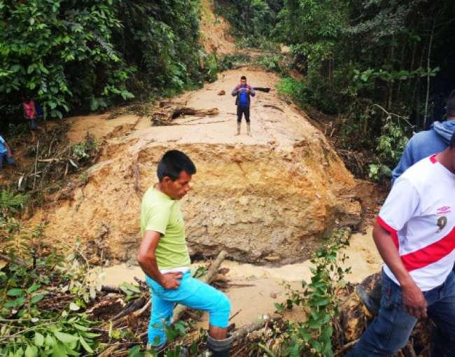 Torrencial lluvia causa estragos en las provincias de Lamas y San Martín