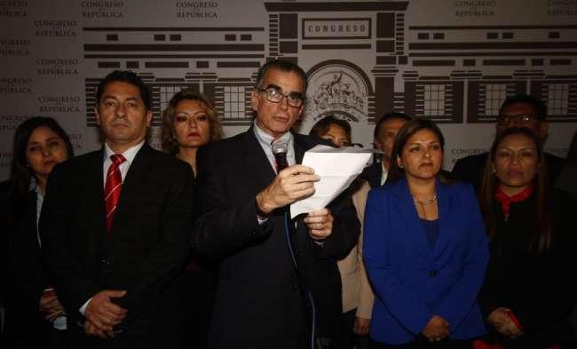 Pedro Olaechea invoca a la PNP y las Fuerzas Armadas
