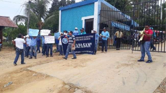 Sindicalistas de EMAPA San Martín  exigen atención de laudo arbitral