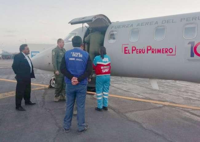 Afiliados SIS salvaron sus vidas en un año gracias a los traslados aéreos de la FAP