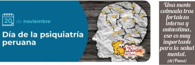 20 de noviembre – Día de la Psiquiatría Peruana