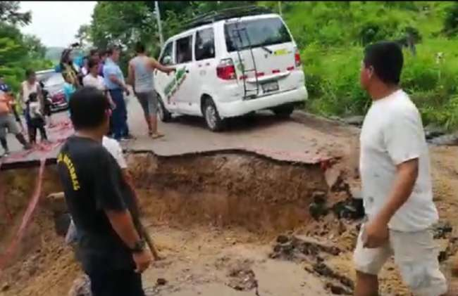 Colapsan 15 puntos críticos de tramo carretero Cuñumbuque-San José de Sisa