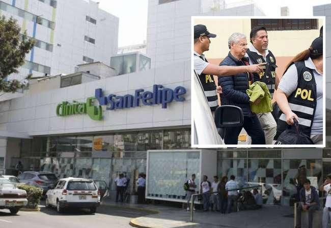 Desde el 2 de diciembre César Villanueva se encuentra internado en Clínica San Felipe