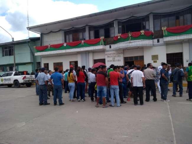 Pobladores de Marona realizan protesta contra Municipalidad Provincial de Moyobamba