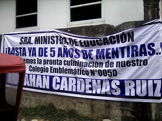Dictan clases en precarias condiciones en institución de Bellavista