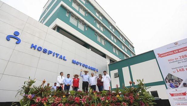 Presidente Martín Vizcarra inauguró hospital incompleto en la ciudad de Moyobamba