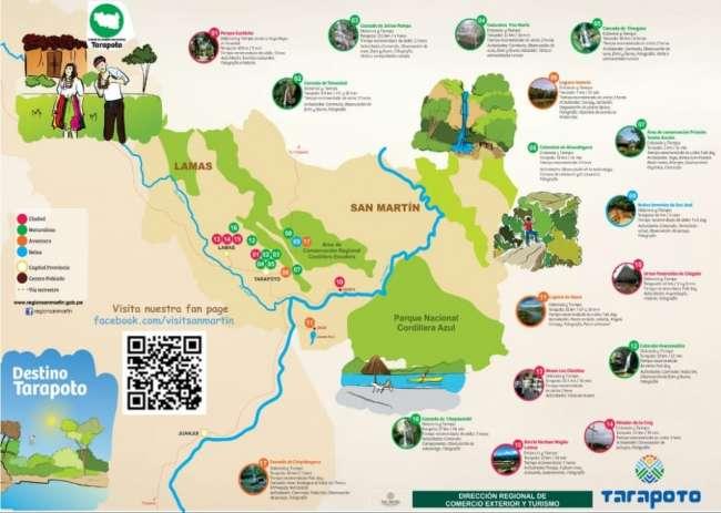 Presentan mapa del Destino Tarapoto en Inglés