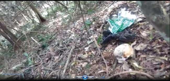 Encuentran cráneo de  persona cerca a chasís de  trimovil desmantelado