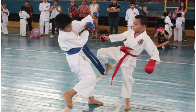 ¿Quieres que tu hijo aprenda karate?  Okinawa te espera