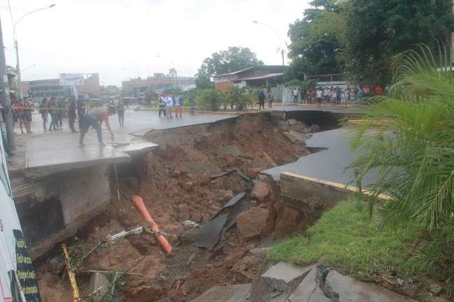 Calles y avenidas afectadas Tarapoto