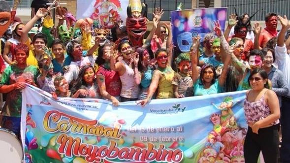 Mañana presentan actividades del Carnaval Moyobambino 2020