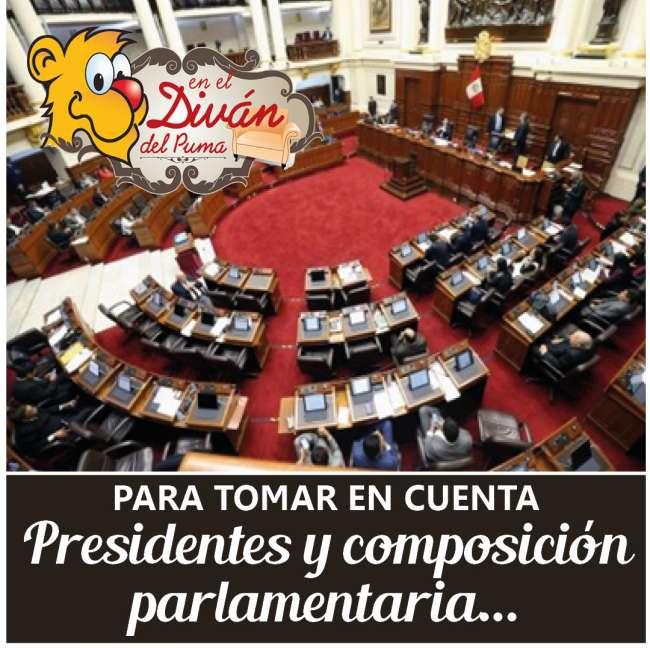 Presidentes y composición  parlamentaria…