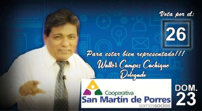Walter Campos  postula para  delegado en Coopac