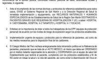 MÉDICOS DENUNCIAN DRAMÁTICA SITUACIÓN DEL SECTOR SALUD EN SAN MARTÍN