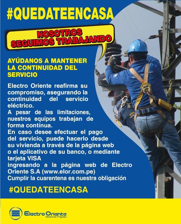 ELECTRO ORIENTE COMUNICA
