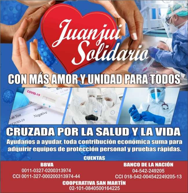 """SURGE CRUZADA CIUDADANA """"JUANJUÍ SOLIDARIO"""" EN APOYO EN APOYO AL COMANDO COVID-19 DE OPERACIONES DE EMERGENCIA PROVINCIAL – MARISCAL CÁCERES."""