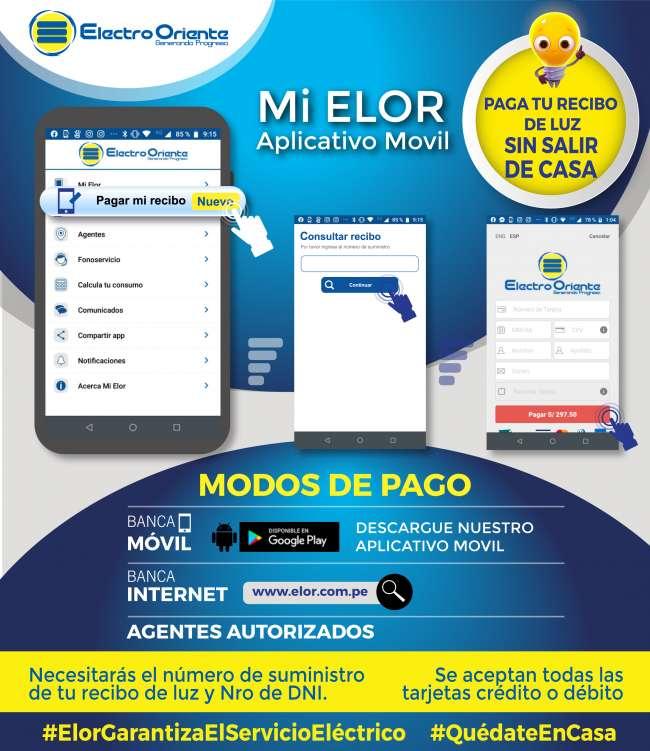 Electro Oriente Informa: Puedes hacer tus pagos virtuales