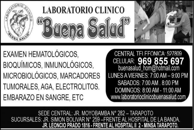 Laboratorio Análisis Clínicos Buena Salud