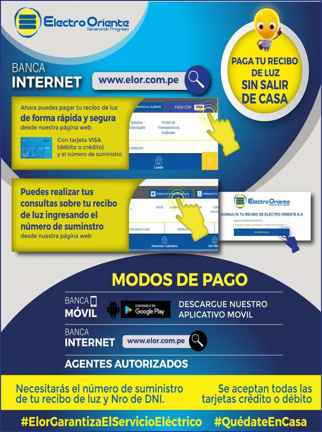 ELECTRO ORIENTE BANCA POR INTERNET - Diario Voces