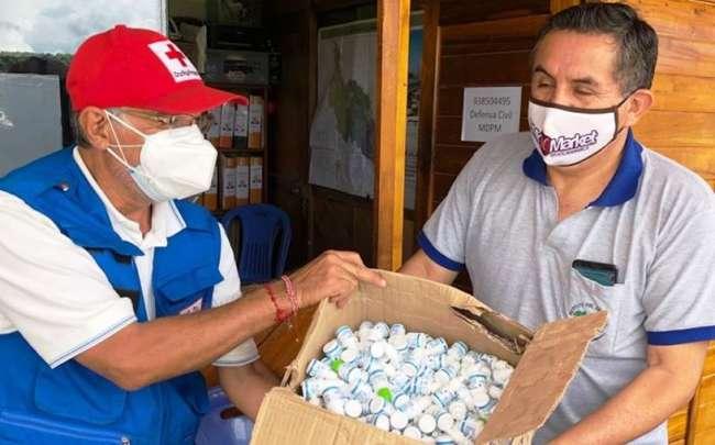 Colectivo Alto Mayo formaliza entrega de balones de oxígeno y más de 7 mil frascos de Ivermectina