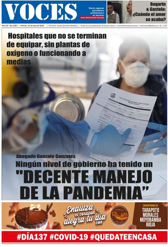 Diario Digital Viernes 31 de Julio 2020