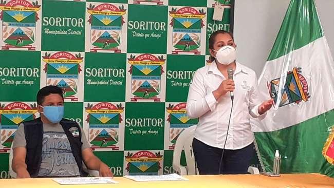 Autoridades y pobladores de San Martín no detienen su lucha contra el Covid 19